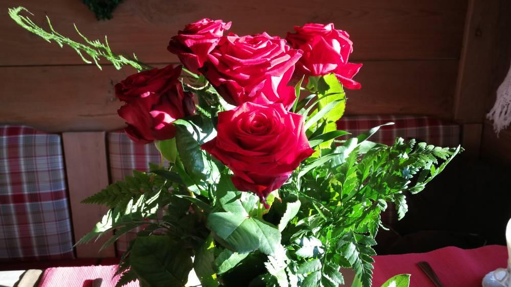 Rosen und Sekt
