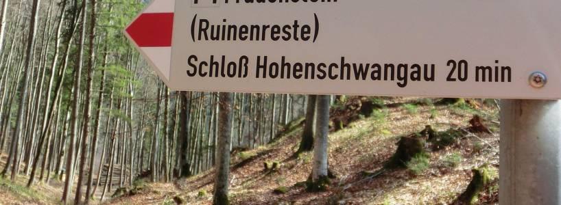 Fernwanderwege-Etappen nach Füssen: Etappe Pflach - Hohenschwangau - Füssen