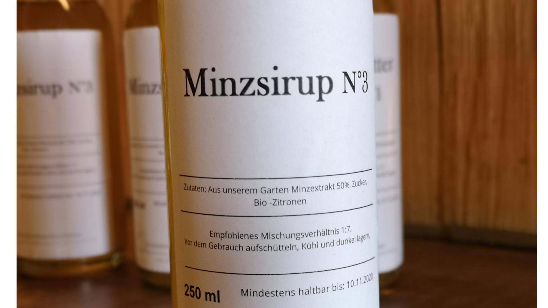 Minzsirup N°3 - 250ml
