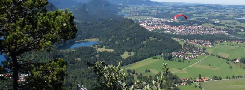 Fernwanderwege-Etappen nach Füssen: Füssen bis zum Tegelberg in Hohenschwangau